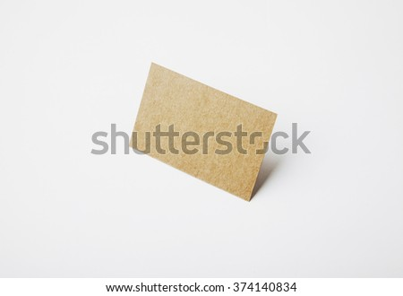 Blank craft identity business card with clear white background.