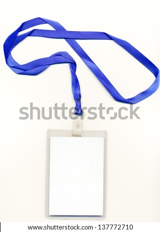 blank credentials - stock photo