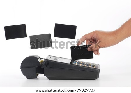 blank credit card isolated on white - stock photo
