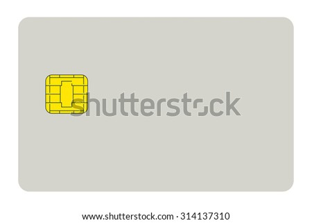 blank credit card isolated on white background