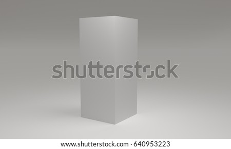 Blank 3d cube on white background.