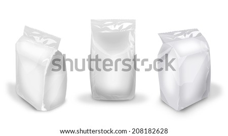 blank 3D package image for design of packing - stock photo