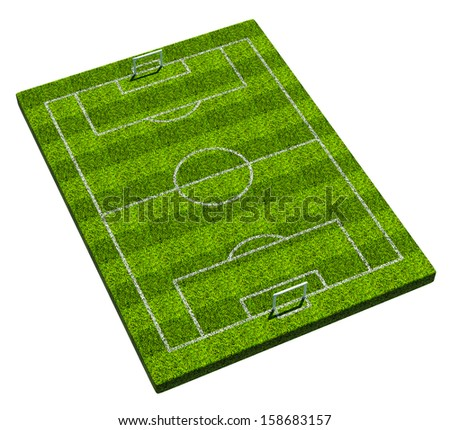 Blank 3d soccer formation plate. Isolated on white background