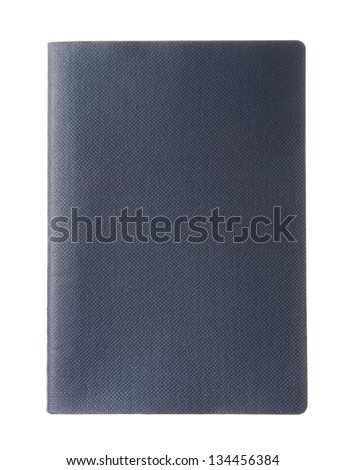 Blank dark blue passport with copy space isolated on white background - stock photo