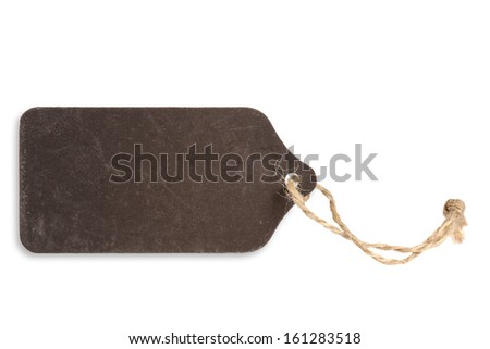 Blank dark label, blackboard - stock photo