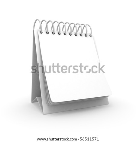 Blank Desktop Calendar - stock photo