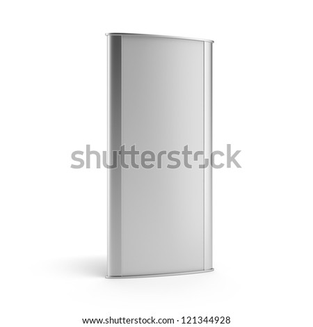 Blank digital banner stand - stock photo