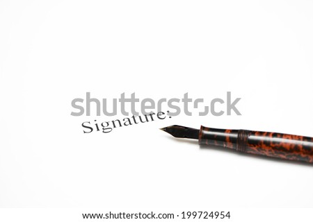 Blank document ready to sign - stock photo
