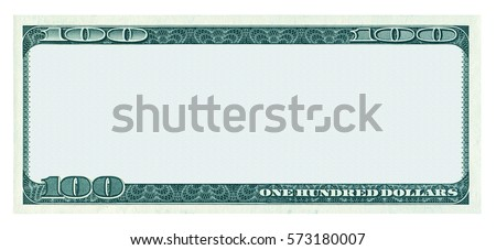 100 dollar stock images royalty free images vectors shutterstock blank 100 dollar banknote pattern isolated on white background pronofoot35fo Choice Image