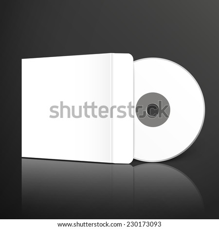 blank dvd and envelope template design set