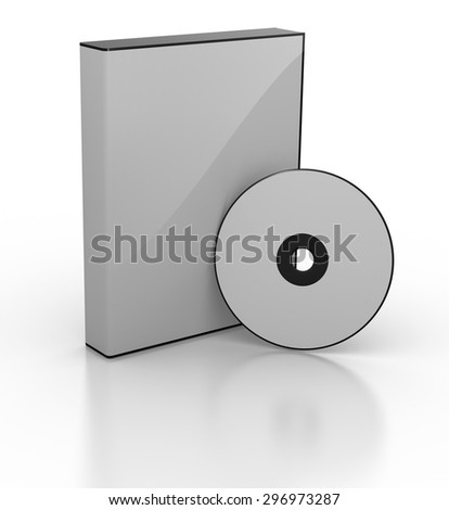 Blank DVD box , This is a computer generated and 3d rendered picture.