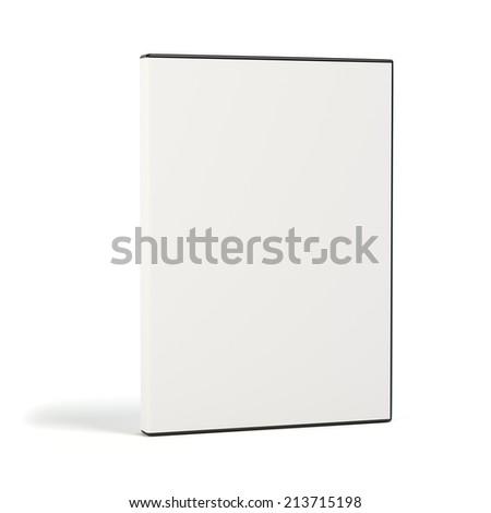 Blank DVD case on white background isolated - stock photo