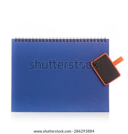 Blank, empty desk calendar, isolated on white background. - stock photo