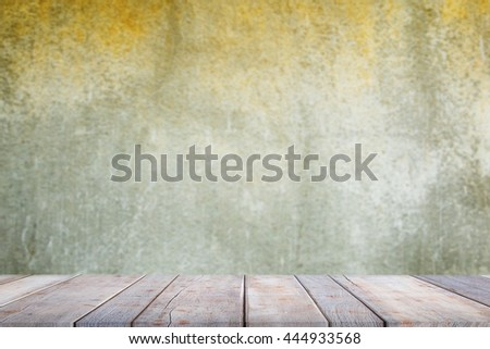 blank empty wall and floor on abstract background of concrete wall texture - For design with copy space for text or product image . - stock photo