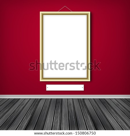 Blank empty white frame - stock photo