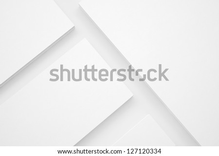 Blank Envelopes Business card Documents and Folder - stock photo