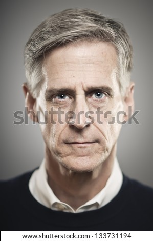 Blank Expression Portrait Senior Man