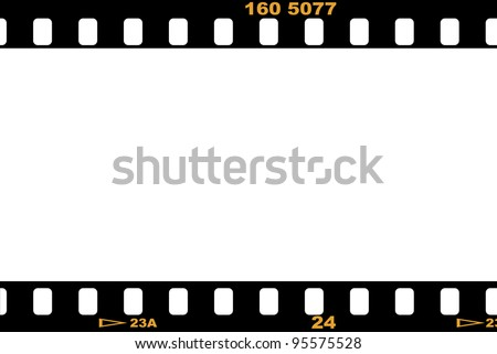 Blank film strip, with empty white space for designers - stock photo
