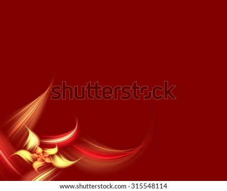 Blank Floral Fractal  - stock photo