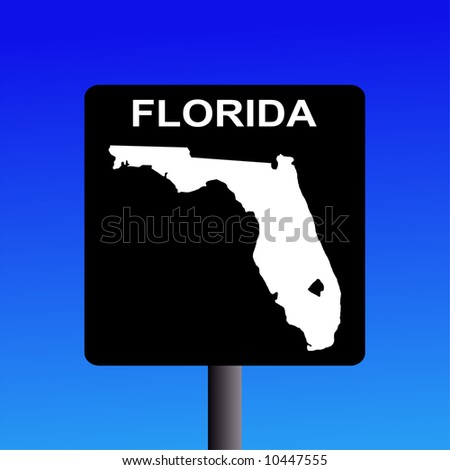 Blank Florida highway sign on blue illustration JPG