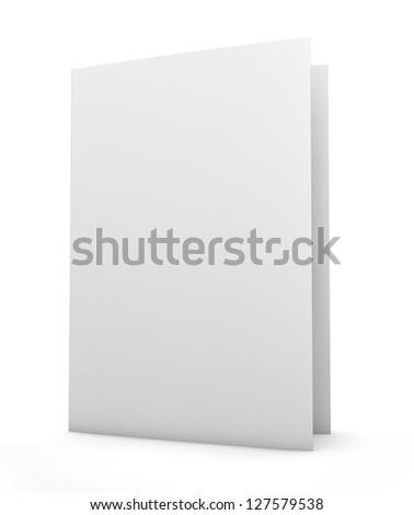 Blank folder - stock photo