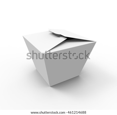 Blank Food box, Fast food, Chinese food, Candies or Cookies box.  3D Illustration