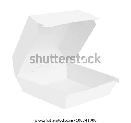 Blank food container isolated on white background - stock photo