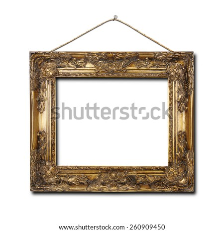 blank frame on a white background - stock photo