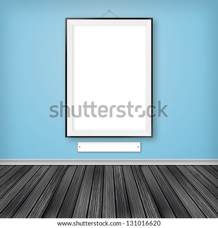 Blank frame with label