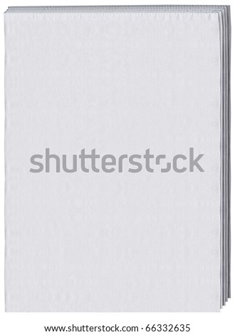 blank front page of a newspaper - stock photo