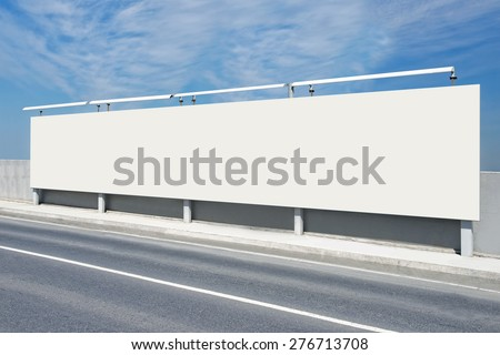 Blank Giantboard of Levent in Istanbul / TURKEY - stock photo