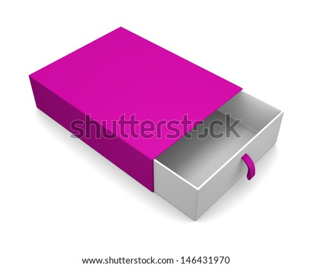 Blank gift box isolated on white