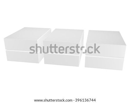 Blank gift box isolated on white background