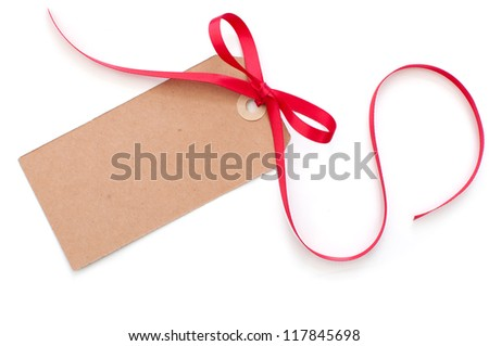 Blank gift tag - stock photo