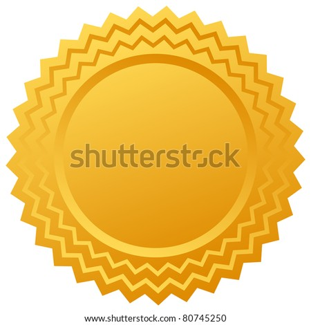 Blank gold certificate