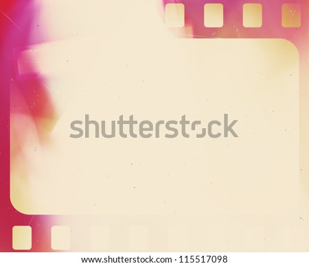 Blank grained film strip negative grunge texture - stock photo