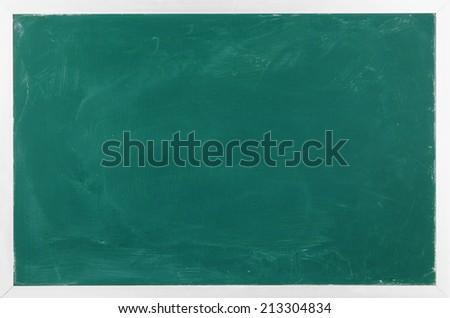 Blank green chalkboard - stock photo