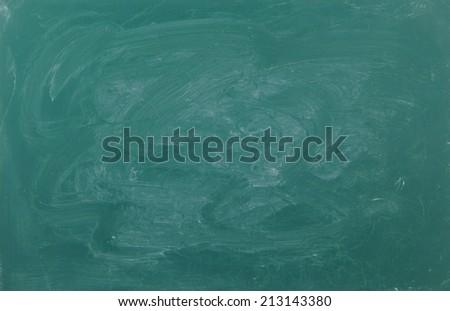 Blank green chalkboard, school board background - stock photo