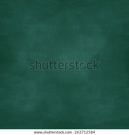 blank green chalkboard with grunge effect - stock photo