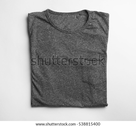 Blank grey t-shirt on white background