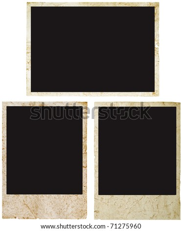 blank grunge instant photo ready to be populated with any image. - stock photo