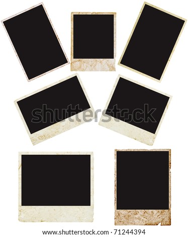 blank grunge photo frame ready to be populated with any image.