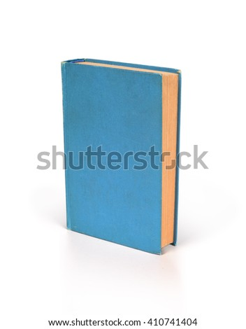 Blank hardcover book isolated on white background with copy space - stock photo