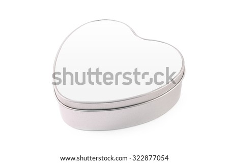 Blank heart box on white background. - stock photo