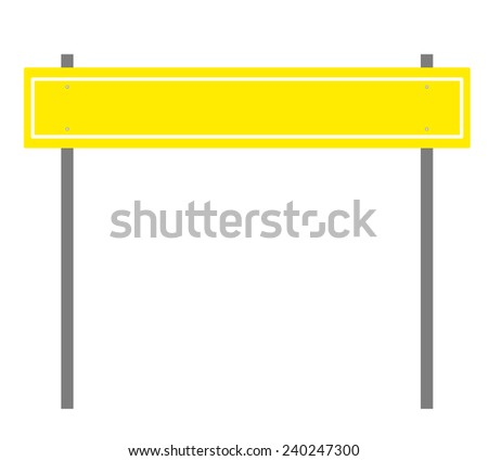 Blank highway sign board on white background