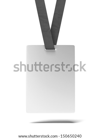 Blank ID Badge - stock photo