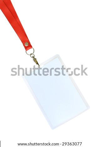 Blank ID card / badge with copy space - stock photo