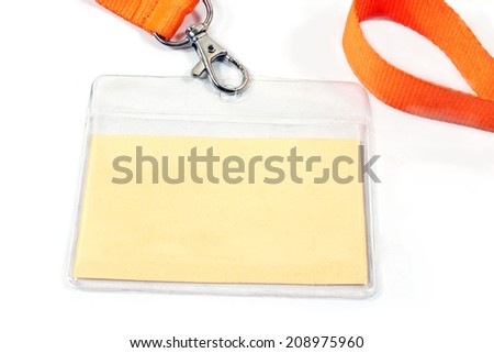 Blank ID card tag on white  - stock photo