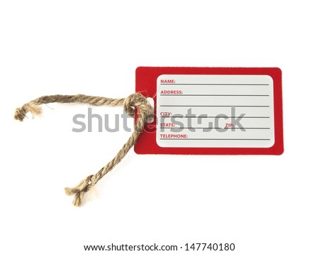 Blank identification card on white background  - stock photo
