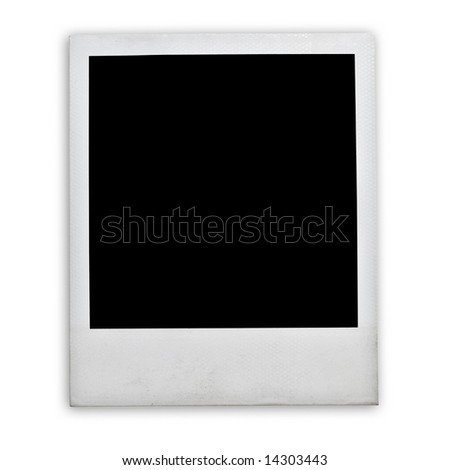 Blank instant photo isolated on a white - stock photo